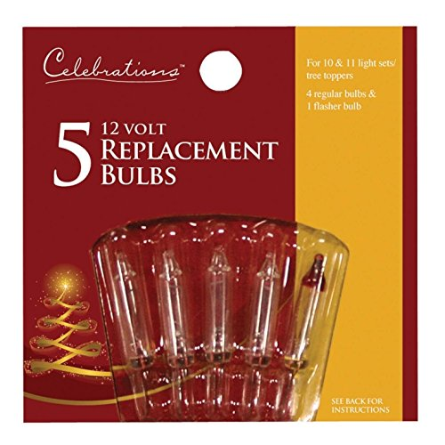 CELEBRATIONS Mini Replacement bulbs - CLEAR, 12V - 12 Volt Christmas Lights