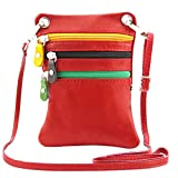 Tuscany Leather TLBag Soft leather mini cross bag Lipstick Red
