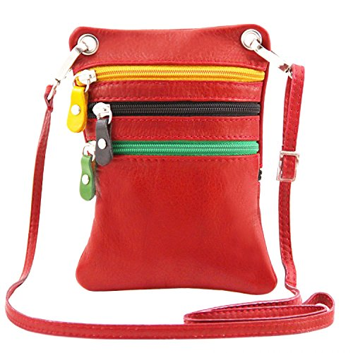 Tuscany Leather TLBag Soft leather mini cross bag Lipstick Red by Tuscany Leather (Image #4)
