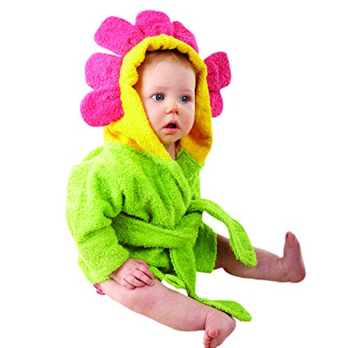 Baby Aspen Hooded Spa Robe, Showers and Flowers by Baby Aspen