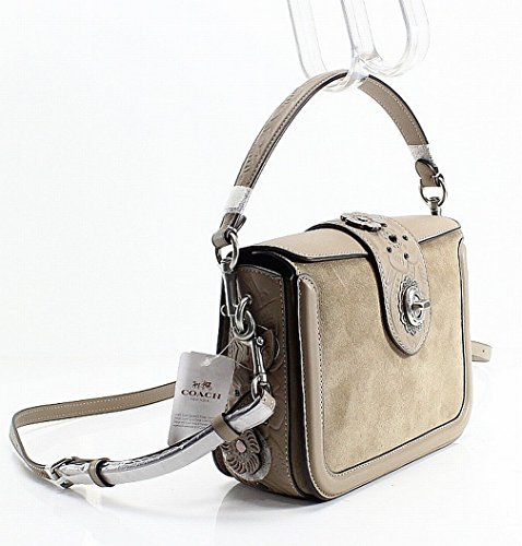 Lh with Applique COACH Multi and Painting Tooling Page Rose Tea Stone Womens Crossbody Zwxq6vA