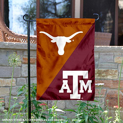 Texas vs. Texas A&M House Divided Garden Flag Banner