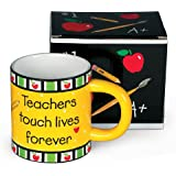 Teachers Touch Lives Forever Coffee Mug Great Teacher's Gift