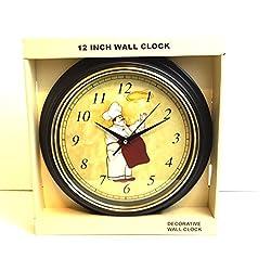 Decorative Italian Fat Chef 12 Wall Clock