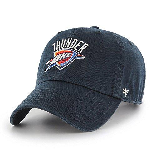 '47 NBA Oklahoma City Thunder Clean Up Adjustable Hat, Navy, One Size (Oklahoma City Thunder Knit Hat)