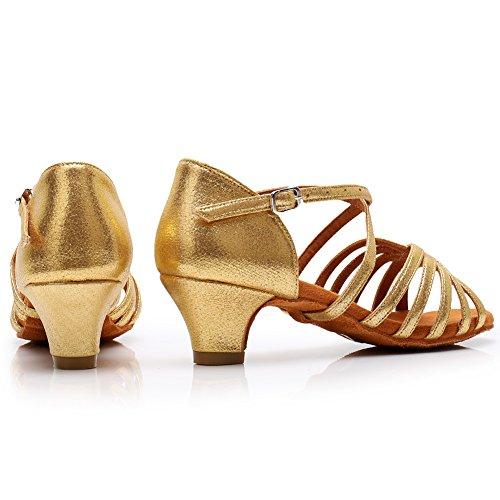 Performance Ykxlm Calzado Salón Mujeres Eslpxgg Danza Oro De Zapatos Baile Latinos Tango amp;niña Zapatillas modelo Salsa w1AwF
