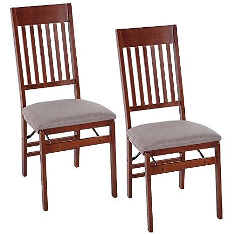 Amazon.com: Misión plegable de madera silla 2-Pack: Kitchen ...
