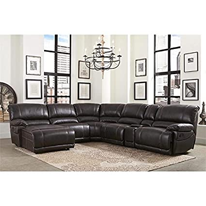 Amazon.com: Abbyson Denver 6 Piece Sectional in Brown: Kitchen & Dining