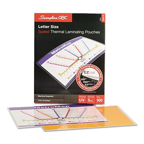 Swingline GBC 3200716 Fusion EZUse Premium Laminating Pouches 5 mil 11 1/2 x 9 100/Box