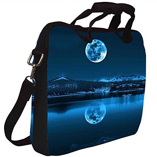 Snoogg Full Moon Reflection Gedruckt Notebook-Tasche mit Schultergurt 15 bis 15,6 Zoll
