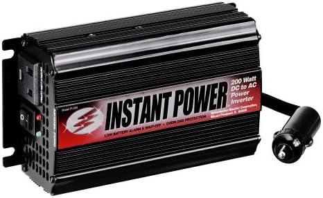 Schumacher PI-200 Instant Power DC to AC Power Inverter – 200 Watts