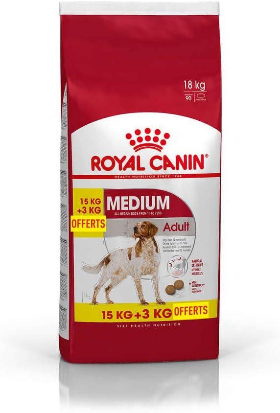 Royal Canin Medium Adult Dry Mix 15 kg + 3 kg Extra Free (Total 18 kg): Amazon.es: Productos para mascotas