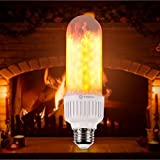 SAMSAI Flame Bulb LED Lights A Creative and Unique Flowing Natural Simulated Gas Fire - Decorative Outdoor Lamp E26 / E27 Bulb 3 Different Modes Romantic Mood Lamp Vintage Flickering Lantern (1pack)