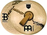 "Meinl 16"" Arena Marching Cymbal Pair with Straps - Professional Bronze Alloy Brilliant Finish - Made In Germany, 2-YEAR WARRANTY (MA-AR-16)"