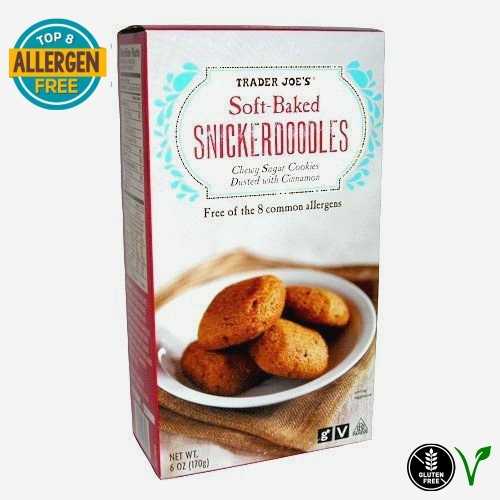 TJ's Gluten-Free Vegan Soft Baked Snickerdoodles: Free of 8 Common Allergens - 6 oz. (170g)g)