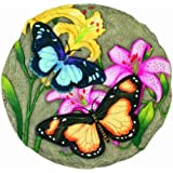 Spoontiques Butterfly with Flowers Stepping Stone