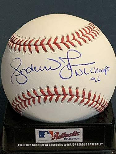 Andruw Jones Atlanta Braves Nl Champs 96 Autographed Signed Oml Baseball - Certified Signature