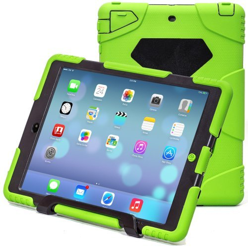 iPad Air 2 Case,iPad 6 Case,Aceguarder®New Design[Waterproof][Shockproof][Scratchproof][Drop resistance]Super Protection Cover Case iPad Air 2(iPad 6)(2015)(green-black)