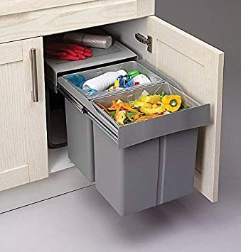 Ziehen Küche Abfall/Recycling Soft Close Mülleimer für 8 mm