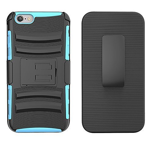 Cyan Colored Cart - Iphone 6 Plus/ 6s Plus Case -Cyan Colored - 3in1-Heavy duty -Best Quality Accessory -Kickstand Combo Case with Belt Clip Holster-Shockproof -Popular Design-Great Gift Quality-Many Colors-Grab one NOW!