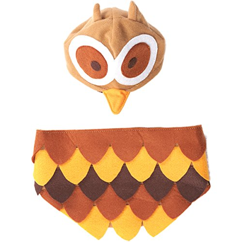 Ethical Fashion Pet Owl Costume Cozy Elastic Head Piece Soft Wearbility X-Large