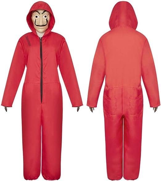 Disfraz Rojo de La CASA De Papel con Máscara - Combinación de ...