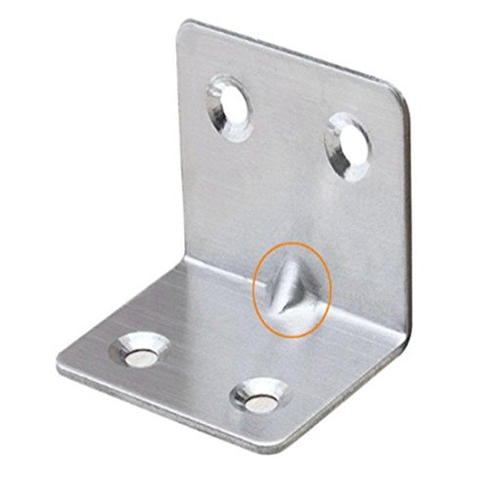 32* 24mm carré Équerre Heavy Duty support Supports à angle droit à 90degrés d'angle Bracket Support d'étagère d'angle Bracket HEBEI LINON