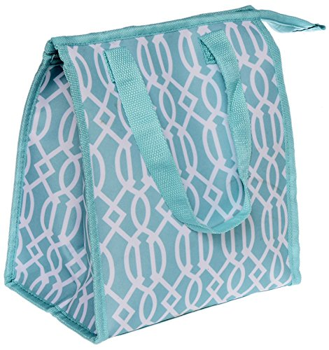 Travel Trends Fashion Print Insulated Portable Zipper Lunch Bag Aqua Print - Aqua Lunch Bag