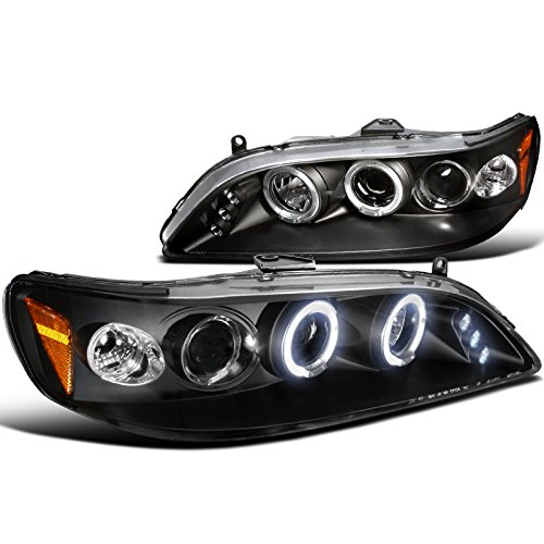 Spec-D Tuning 2LHP-ACD98JM-TM Honda Accord Led Black Projector Halo Head Lights - Honda Accord Coupe Manual