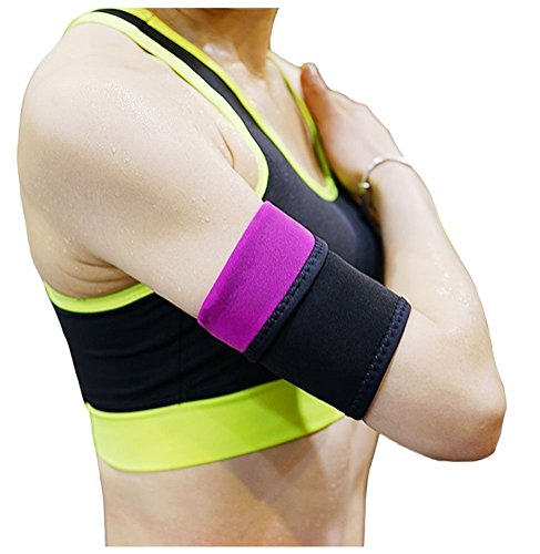 Gudessly Arm Trimmers to Help Reduce Cellulite Workout Enhancer Body Wraps for Slimmer Arm Gym Exercise Bands for Women & Men Repels Sweat Moisture(1 Pair)