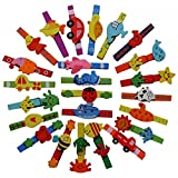 Creation Station Set of 24 Colourful Wooden Craft Clothes Pegs 7cm