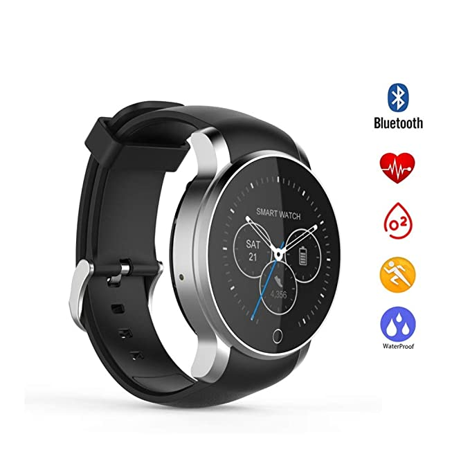 HCWF Smartwatch Bluetooth Smartwatch Impermeable con Alarma Agenda ...