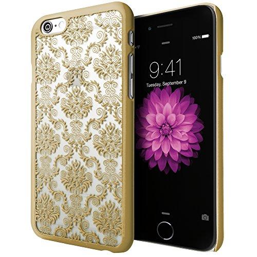 iPhone 6S Plus Case, Cimo [Damask] Apple iPhone 6 Plus Case Design Pattern Premium ULTRA SLIM Hard Cover for Apple iPhone 6S/6 Plus - Gold
