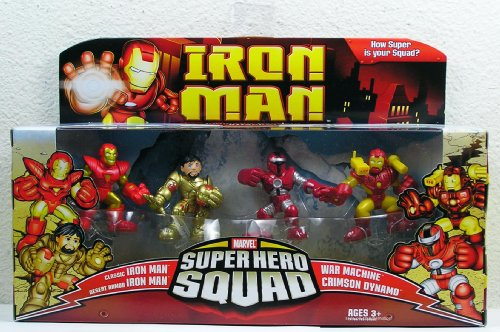 - Hasbro Iron Man Movie Toy Super Hero Squad Battle Pack Crimson Dynamo Attacks