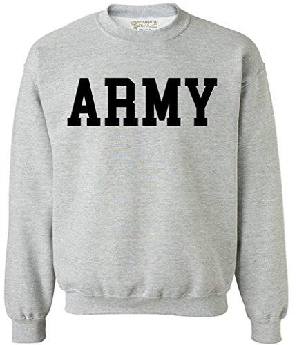 Awkwardstyles Army Sweater Black Military Physical Training Sweatshirt XL Gray (Army Sweatshirt Mens)