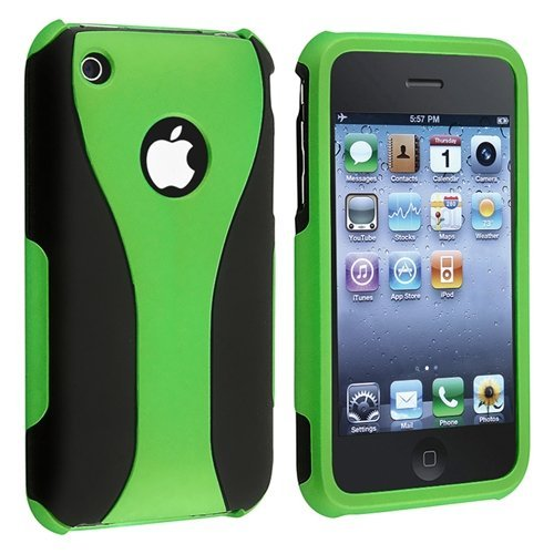 Cell Phone Case for iPhone 3 G 3GS - Non-Retail Packaging - Green (Cases 3g Iphone Phone)