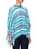 MISSONI Crochet Cotton Ribbed-Crewneck Cape / Poncho