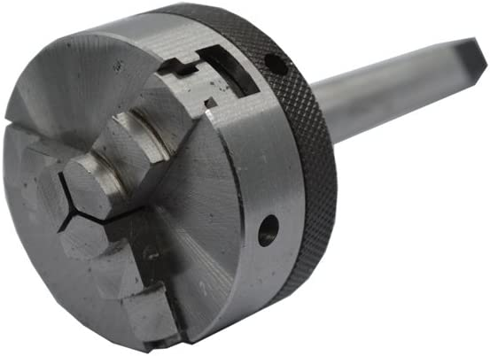 50 mm Mini Lathe Chuck with MT-2 Mounting Shank and 2 Keys For Chuck