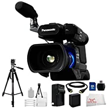 Panasonic AG-AC8PJ Shoulder Mount Video Camera with 3-Inch LCD (Black) Kit Includes: 16GB Memory Card, USB Memory Card Reader, Extended Life Replacement Battery, Rapid Travel Charger, HDMI Cable, 70 inch Tripod, Table Top Tripod, and More!