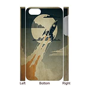 3D IPhone 4/4s Cases Night Launch, Dustin, {White}