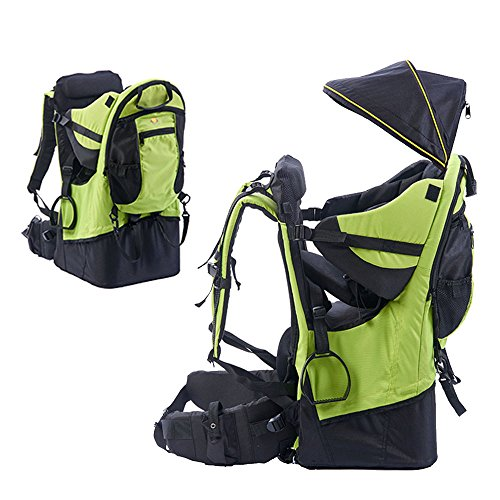 Rain Cover Child Carriers - TeckCool_Store Baby Carrier, TECKCOOL Baby Toddler Hiking Backpack Carrier w/Rain cover Child Kid Sun/canopy Shield A+, Holds up to 50 Pound Ideal for Children Between 6 months-4years old (green)
