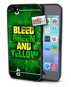 Sports Team Bleed Green and Yellow Case for iphone 5 5s