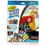 Crayola Color Wonder Disney Princess Glitter Coloring Pages & Markers Set Art Gift for Kids & Toddlers 3 & Up, Coloring Pages & Markers, Won't Mark Walls, Clothes or Furniture