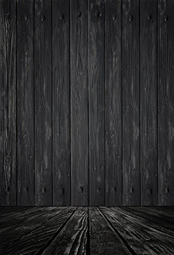 Yeele Wood Floor Backdrops 8x10ft /2.4 X 3M Light Black Wooden Board Adult Artistic Portrait Photoshoot Props Photography -