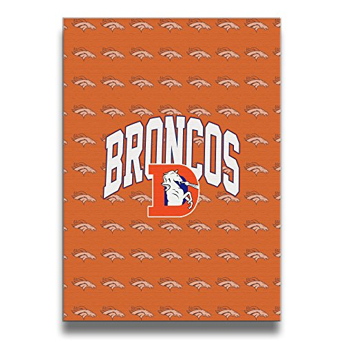 Denver Broncos Pro Line Passport Slub Canvas Frameless Paintings Decor