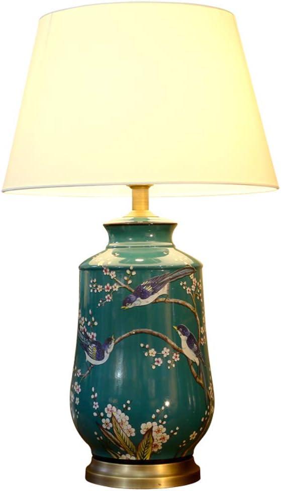 CKH Estudio Americano Dormitorio lámpara de Mesa de cerámica japonés Pintado atenuación lámpara de Noche Sala de Estar Porche Botella de la Botella de Porcelana