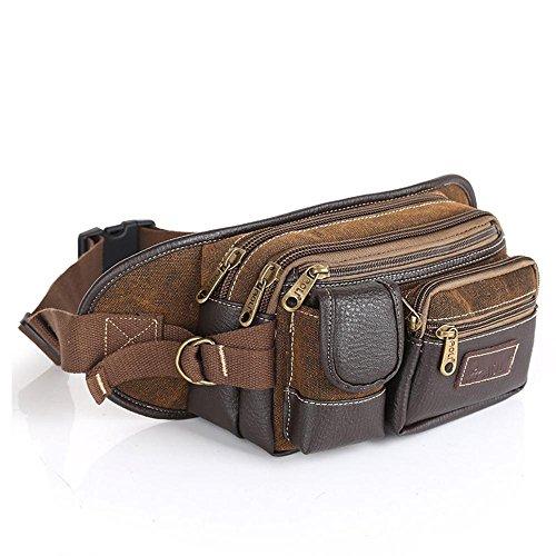 BUSL pacchetto diagonale tasche multifunzione borsa petto uomo tasche spalla di tela per il tempo libero all'aperto