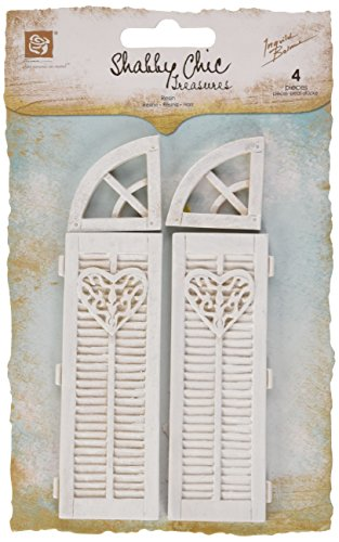 "Shabby Chic Resin Treasures-Large Window Closers 4/Pkg 1"" To 4"""