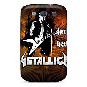 High Quality Mobile Case For Samsung Galaxy S3 With Unique Design Attractive Metallica Skin AaronBlanchette