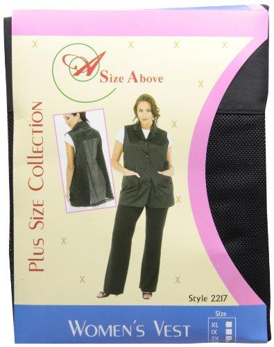 A Size Above Plus Size Vented Mesh Back Salon Stylist Vest, 3X by A Size Above (Image #2)